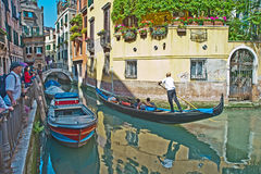 Venetian Canal in Springtime Stock Image