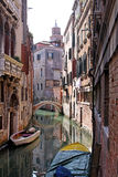 Venetian canal street Stock Photography