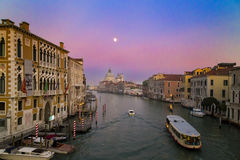 Venetian Canal at Sunset Stock Photo
