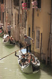 Venetian canal trip Stock Photography