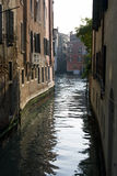 Venetian canal view. View of the houses on the Venetian canal, Italy Stock Images