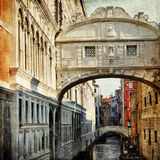 Venetian canals. bridge of sights Royalty Free Stock Photo