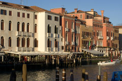 Venetian canals in winter Royalty Free Stock Photo