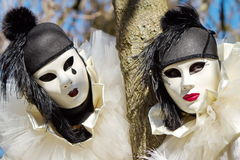 Venetian carnival at Annecy, France Stock Photos