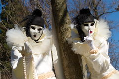 Venetian carnival at Annecy, France Royalty Free Stock Photos