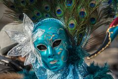 Traditional venetian carnival costume mask Royalty Free Stock Images