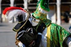 Venetian carnival costumes Stock Photo