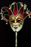 Venetian carnival mask. On black background royalty free stock photography