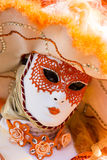 Venetian Carnival Mask. Unidentified person with traditional Venetian carnival mask Stock Photos