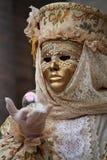 Venetian carnival mask. Carnival mask in Venice, San Marco's square Royalty Free Stock Image