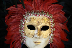 Venetian carnival mask with feather Stock Photo