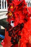 Venetian carnival, mask and feathers, Venice, Italy Stock Images