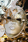 Venetian carnival mask. Gold and white, varied Royalty Free Stock Photos