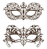 Venetian carnival mask with ornament pattern. On white background vector illustration