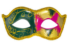 Venetian Carnival Mask   patterned asymmetrical frontal picture Royalty Free Stock Photos