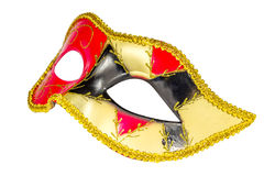 Venetian Carnival Mask   patterned asymmetrical frontal picture Royalty Free Stock Image