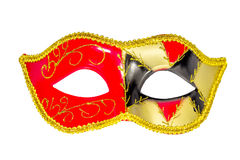 Venetian Carnival Mask   patterned asymmetrical frontal picture Stock Images