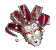 Venetian carnival mask on white background isolated. Close up Stock Photo