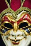 Venetian carnival mask2. Venetian carnival mask on black background stock images