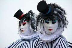 Venetian carnival masks. Carnival masks in Venice, San Marco's square Royalty Free Stock Image