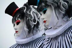 Venetian carnival masks. Carnival masks in Venice, San Marco's square Royalty Free Stock Photo