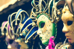 Venetian carnival masks Stock Photos