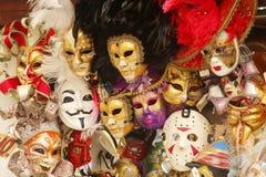 Venetian carnival masks. Bunch of venetian carnival masks Royalty Free Stock Images