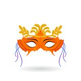 Venetian carnival masks.  Celebration and fun. Fun minded people. Symbol of laughter and celebration Royalty Free Stock Image