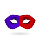 Venetian carnival masks.  Celebration and fun. Fun minded people. Symbol of laughter and celebration Stock Photo