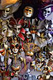 Venetian Carnival masks. Colors and creativity. The colored Venetian Carinval masks are symbol of the amazing and melancholic city of Venice Royalty Free Stock Images