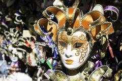 Venetian carnival masks. On sale market Stock Images