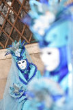 Venetian Carnival 2016 masks in San Marco square. Royalty Free Stock Photography