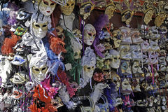 Venetian masks on the market Stock Photos