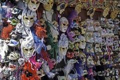 Venetian masks on the market. Venetian carnival masks on the market, San Marco, Venezia, Italy Stock Photos