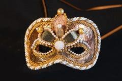 Venetian carnival masks, traditional hand-made. stock photo