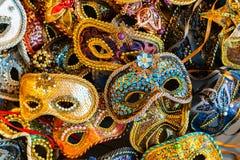 Venetian carnival masks, traditional hand-made. royalty free stock image