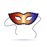 Venetian carnival template with mask Royalty Free Stock Images