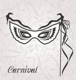 Venetian carnival or theater mask with ribbons. Illustration venetian carnival or theater mask with ribbons  - vector Stock Images