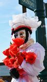 Venetian carnival, white mask, Venice, Italy Royalty Free Stock Photos