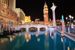 Venetian Casino in Las Vegas. The Venetian Resort Hotel Casino is a luxury hotel and casino resort situated between Harrah's and The Palazzo on the east side of stock image
