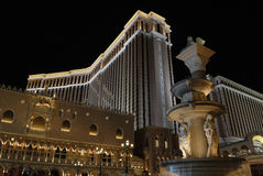 Venetian Casino in Las Vegas at night Royalty Free Stock Photography