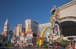 Venetian, Casino Royale and Harrah's hotels Royalty Free Stock Photos