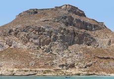 Venetian castle at Imeri Gramvousa Bay. Crete. Greece Stock Photos
