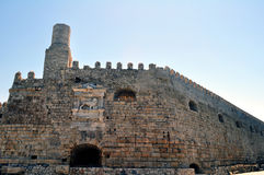 Venetian castle (Koules), in Crete, Greece Royalty Free Stock Image