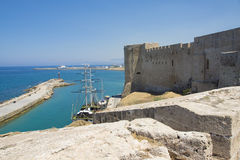 Venetian castle in Kyrenia Stock Photo