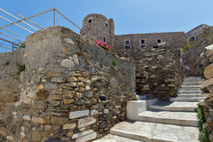 The Venetian castle in Naxos island, Cyclades Stock Photography