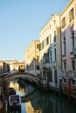 Venetian cityscape, Italy, Europe. Venetian cityscape, canal and historical buildings, in Venice, Italy, Europe Stock Photo