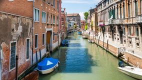 Venetian cityscape in Venice city. Travel to Italy - Venetian cityscape in Venice city in sunny summer day Stock Photography