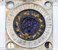 Venetian clock. Astronomical clock in Venice, Italy Stock Photo