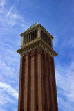 Venetian Column Placa de Espanya. Venetian Tower Barcelona, Catalogna, Spain Stock Photos